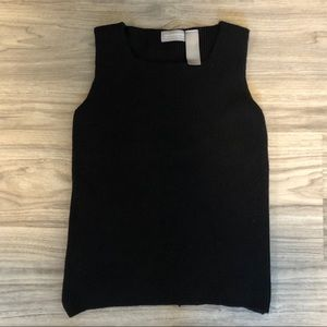 Liz Claiborne Black 100% Wool Petite Tank Top